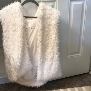 Fuzzy vest with hood